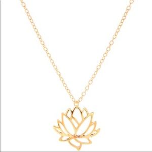 Gold Lotus Flower Trendy Necklace